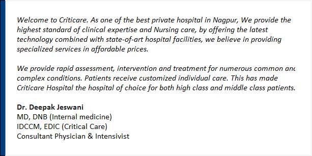 Criticare Hospital Nagpur